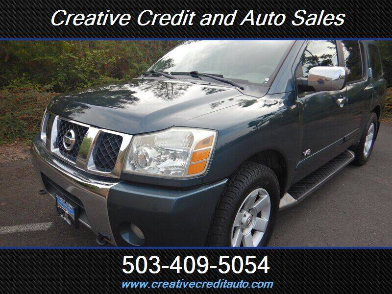 2005 Nissan Armada for sale at Creative Credit & Auto Sales in Salem OR