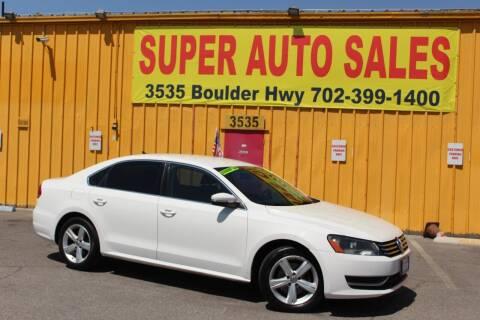 2013 Volkswagen Passat for sale at Super Auto Sales in Las Vegas NV