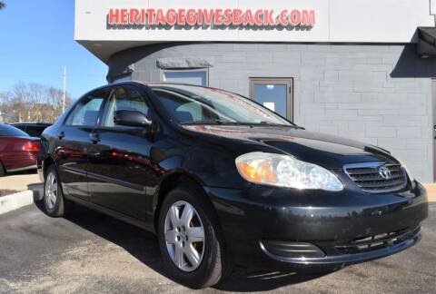 2007 Toyota Corolla for sale at Heritage Automotive Sales in Columbus in Columbus IN