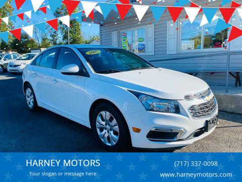 2015 Chevrolet Cruze for sale at HARNEY MOTORS in Gettysburg PA