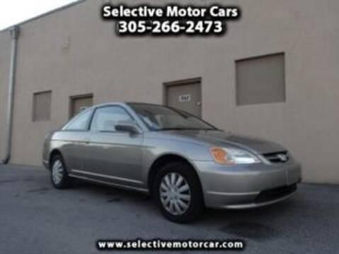 2003 Honda Civic for sale at Selective Motor Cars in Miami FL