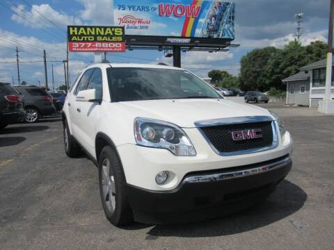 2011 GMC Acadia for sale at Hanna's Auto Sales in Indianapolis IN
