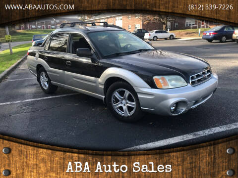 2003 Subaru Baja for sale at ABA Auto Sales in Bloomington IN
