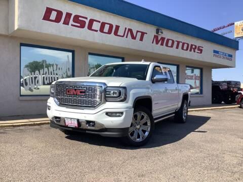 2017 GMC Sierra 1500 for sale at Discount Motors in Pueblo CO