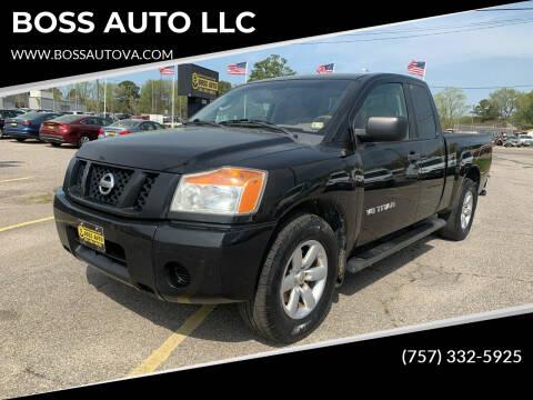 2010 Nissan Titan for sale at BOSS AUTO LLC in Norfolk VA