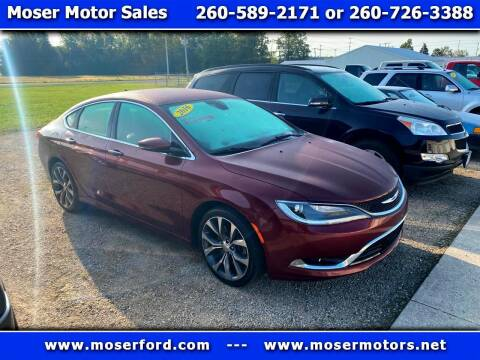 2016 Chrysler 200 for sale at Moser Motors Of Portland in Portland IN