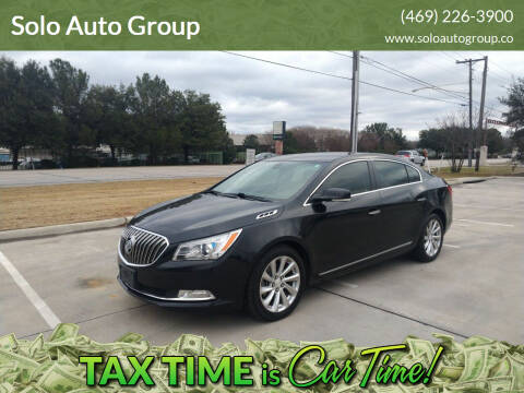 2015 Buick LaCrosse for sale at Solo Auto Group in Mckinney TX