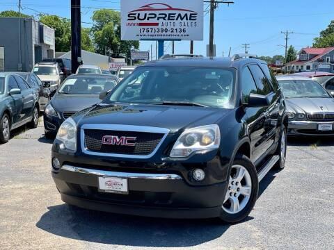 2011 GMC Acadia for sale at Supreme Auto Sales in Chesapeake VA