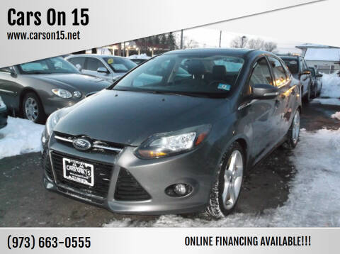 2014 Ford Focus for sale at Cars On 15 in Lake Hopatcong NJ