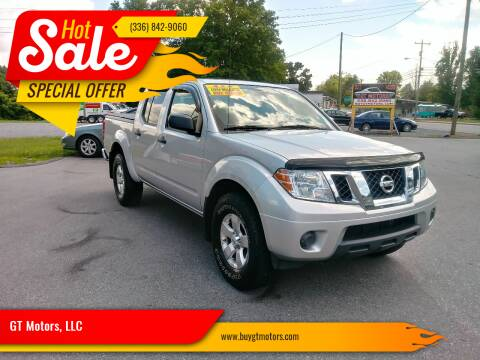2012 Nissan Frontier for sale at GT Motors, LLC in Elkin NC