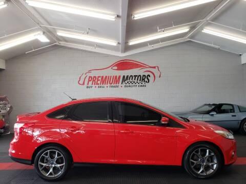 2013 Ford Focus for sale at Premium Motors in Villa Park IL
