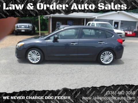 2013 Subaru Impreza for sale at Law & Order Auto Sales in Pilot Mountain NC