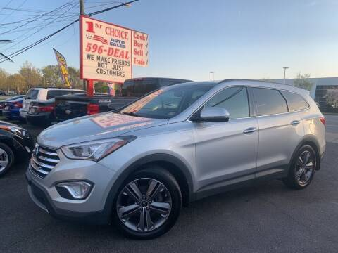 2014 Hyundai Santa Fe for sale at 1st Choice Auto Sales in Newport News VA