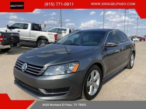 2012 Volkswagen Passat for sale at SOUTHWEST AUTO GROUP-EL PASO in El Paso TX