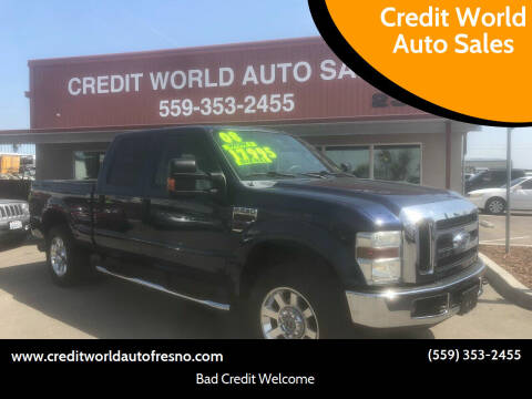 2008 Ford F-250 Super Duty for sale at Credit World Auto Sales in Fresno CA