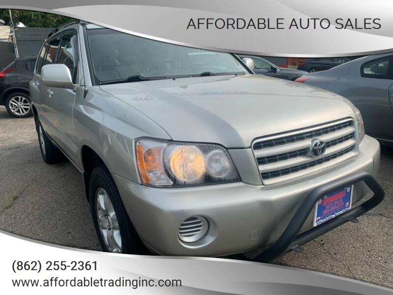 2003 Toyota Highlander for sale at Affordable Auto Sales in Irvington NJ
