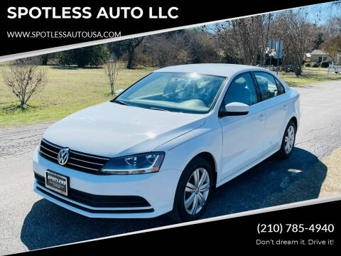 2017 Volkswagen Jetta for sale at SPOTLESS AUTO LLC in San Antonio TX