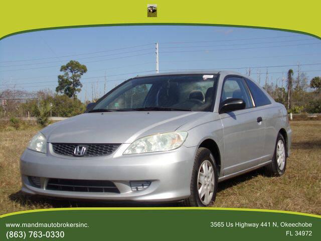 2005 Honda Civic for sale at M & M AUTO BROKERS INC in Okeechobee FL