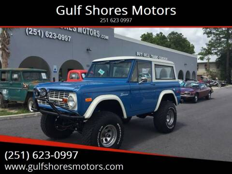 1971 Ford Bronco for sale at Gulf Shores Motors in Gulf Shores AL