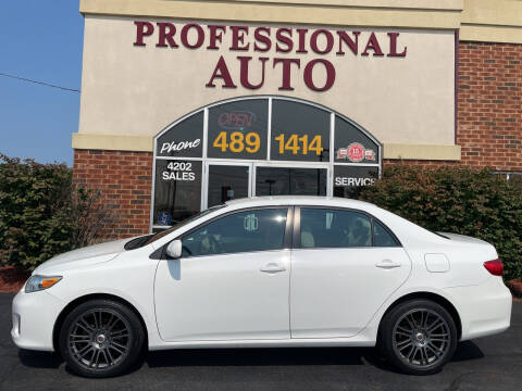 2013 Toyota Corolla for sale at Professional Auto Sales & Service in Fort Wayne IN