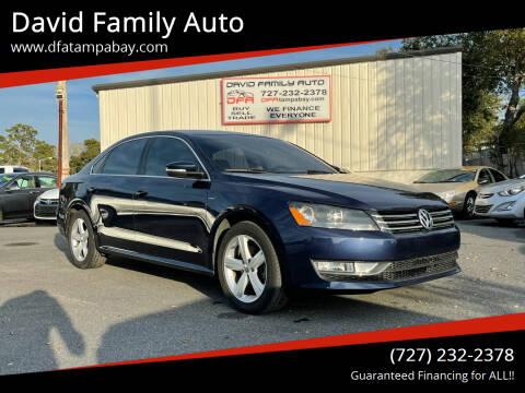 2015 Volkswagen Passat for sale at David Family Auto in New Port Richey FL