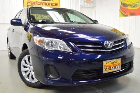 2013 Toyota Corolla for sale at Performance car sales in Joliet IL