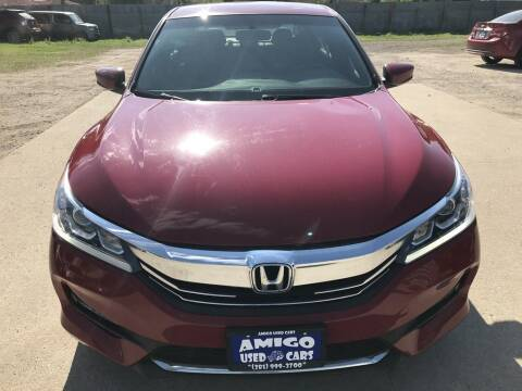 2016 Honda Accord for sale at AMIGO USED CARS in Houston TX
