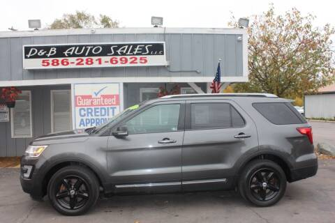 2017 Ford Explorer for sale at D & B Auto Sales LLC in Washington MI