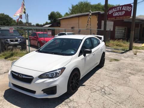 2018 Subaru Impreza for sale at Quality Auto Group in San Antonio TX