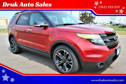 2013 Ford Explorer for sale at Druk Auto Sales in Ramsey MN