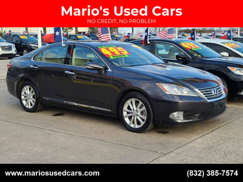 2010 Lexus ES 350 for sale at Mario's Used Cars in Houston TX