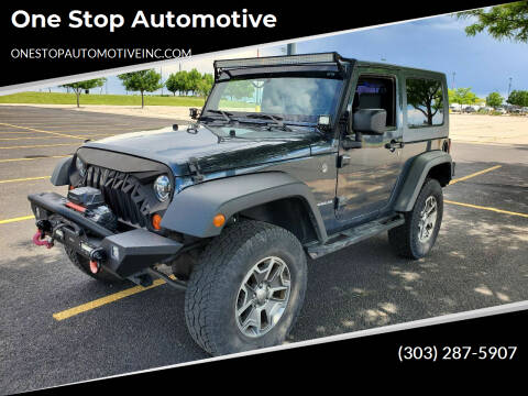 2008 Jeep Wrangler for sale at One Stop Automotive in Commerce City CO