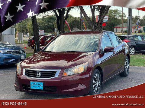 2010 Honda Accord for sale at Central Union Auto Finance LLC in Austin TX