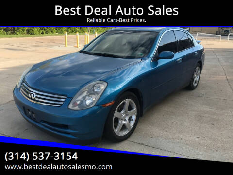 2004 Infiniti G35 for sale at Best Deal Auto Sales in Saint Charles MO