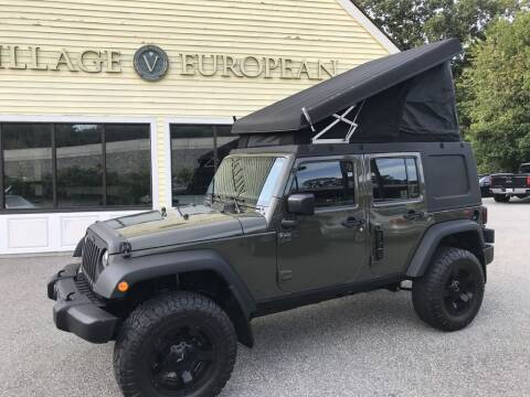 2016 Jeep Wrangler Unlimited for sale at Village European in Concord MA