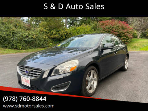 2013 Volvo S60 for sale at S & D Auto Sales in Maynard MA