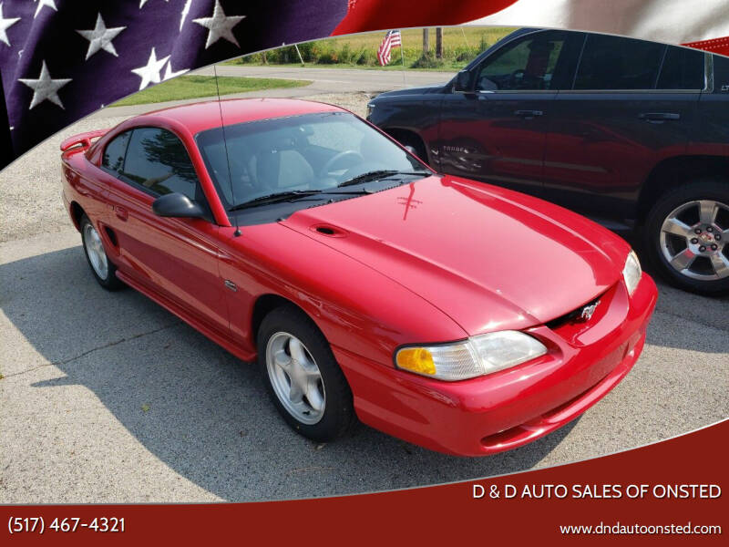 1994 Ford Mustang for sale at D & D Auto Sales Of Onsted in Onsted MI