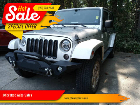 2012 Jeep Wrangler Unlimited for sale at Cherokee Auto Sales in Acworth GA
