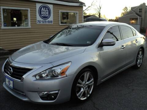 2015 Nissan Altima for sale at All Ride Motors in Chesapeake VA