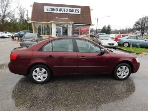 2009 Hyundai Sonata for sale at Econo Auto Sales Inc in Raleigh NC