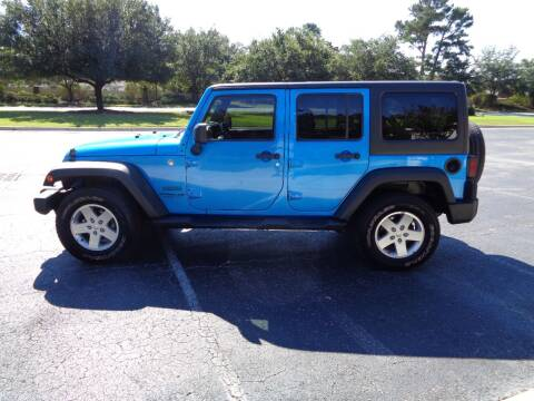 2015 Jeep Wrangler Unlimited for sale at BALKCUM AUTO INC in Wilmington NC