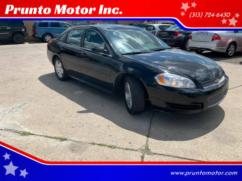 2014 Chevrolet Impala Limited for sale at Prunto Motor Inc. in Dearborn MI