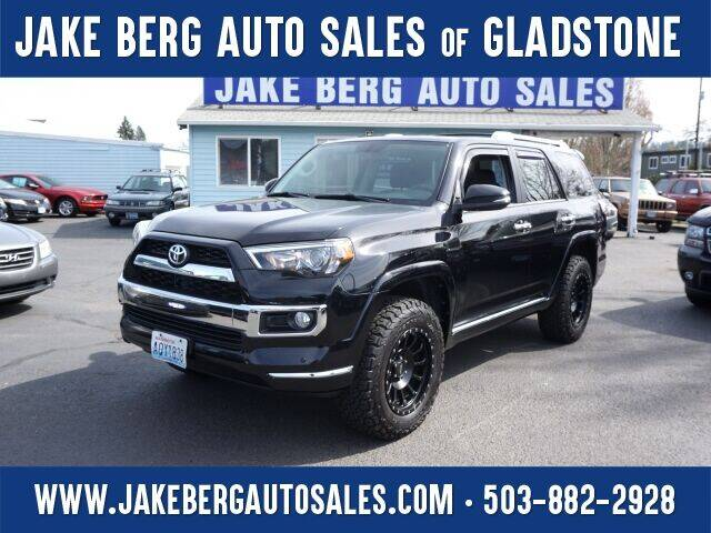 2014 Toyota 4Runner for sale at Jake Berg Auto Sales in Gladstone OR