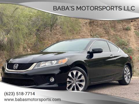 2013 Honda Accord for sale at Baba's Motorsports, LLC in Phoenix AZ