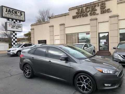 2018 Ford Focus for sale at JACK'S MOTOR COMPANY in Van Buren AR