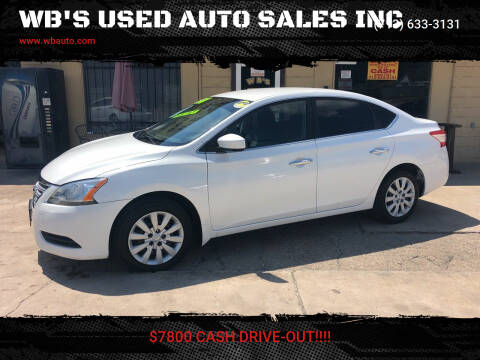 2014 Nissan Sentra for sale at WB'S USED AUTO SALES INC in Houston TX