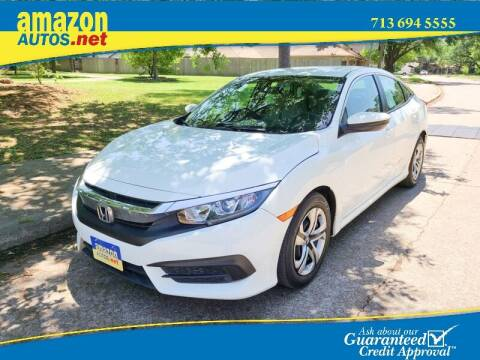 2016 Honda Civic for sale at Amazon Autos in Houston TX