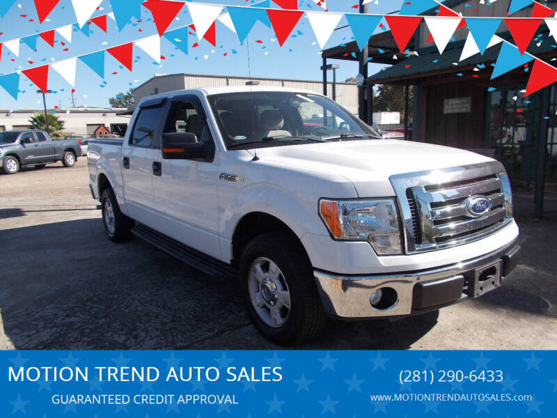 2010 Ford F-150 for sale at MOTION TREND AUTO SALES in Tomball TX