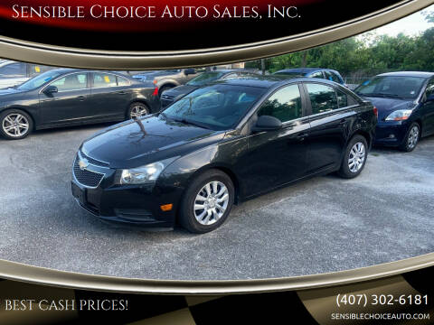 2012 Chevrolet Cruze for sale at Sensible Choice Auto Sales, Inc. in Longwood FL