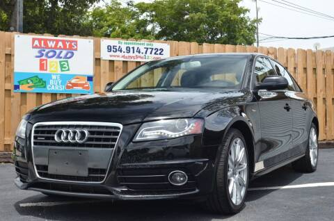 2012 Audi A4 for sale at ALWAYSSOLD123 INC in Fort Lauderdale FL